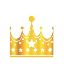 Crown, Isolated On White Background