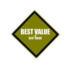 Best value white stamp text on green background
