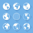 Detaily fotografie Vector World Globe icons