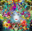 Obrazy na płótnie, fototapety, zdjęcia, fotoobrazy drukowane : девушка в цветах