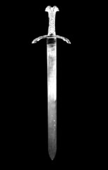 digital photogram of a knight sword