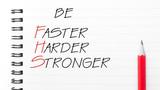 Be Faster, Harder, Stronger poster