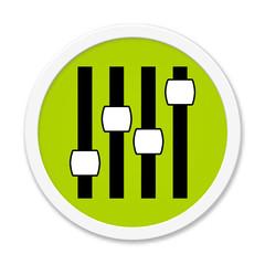 Moderner grüner runder Button: Einstellungen