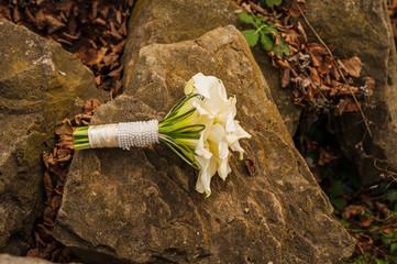 A bouquet of fresh lilies