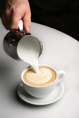 preparazione cappuccino
