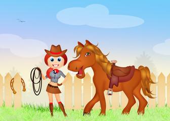 Girl rodeo