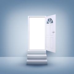Open door and stairs