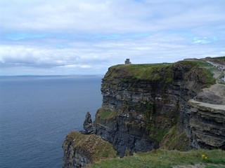Castle on the Cliffs of Moher in Ireland
