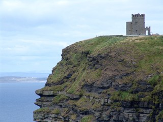 Little Castle on the Cliffs of Moher in Ireland