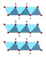 Portlandite (calcium hydroxide, Ca(OH)2, slaked lime)