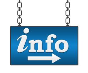 Info Blue Signboard