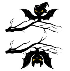 halloween bats set