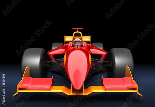 Naklejka Generic red race car