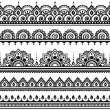 Mehndi, Indian Henna tattoo seamless pattern, design elements - 83303845