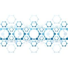 Vector background of blue molecule structure. Medical design