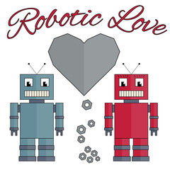 Fully vector robotic love picture