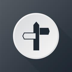 icon road pointer