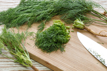 dill vegetable ingredient nature organic green chopped