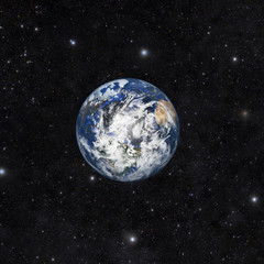 Planet earth with space background