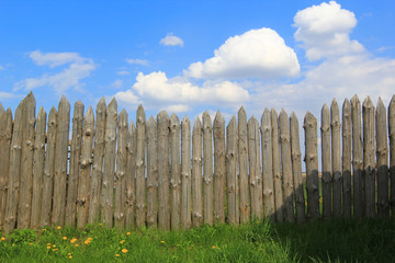 timber wood fence