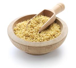 bulgur wheat , Turkish food isolated on white background