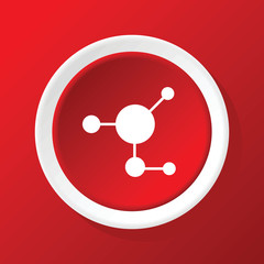 Couple icon on red