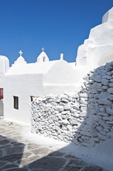 Church of Paraportiani in the island of Mykonos