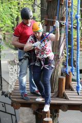 Couple at adventure park