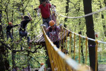Family climbing rope