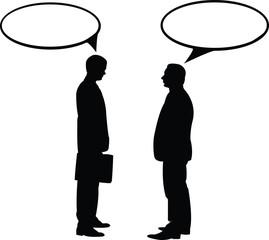 uomini che parlano