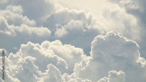 Fototapeta blue sky and beautiful clouds