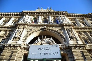 Italian Palace of Justice in Rome, Italy