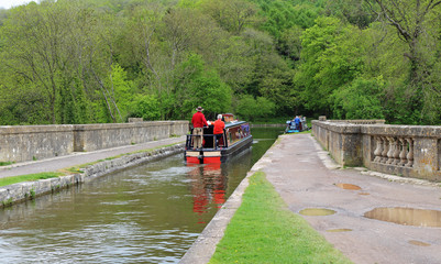 Boats in a Canal Lock