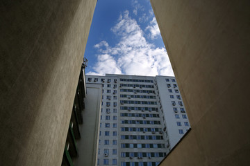 high commercial buildings in Minsk, Belarus