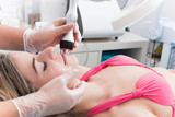 Woman in spa clinic