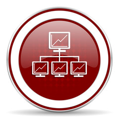 network red glossy web icon
