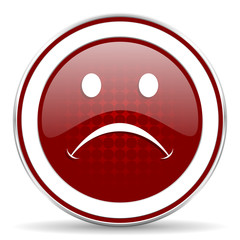 cry red glossy web icon
