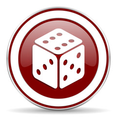 game red glossy web icon