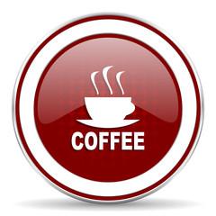 espresso red glossy web icon