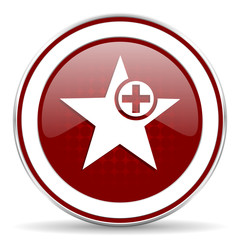 star red glossy web icon