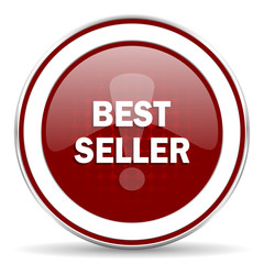 best seller red glossy web icon