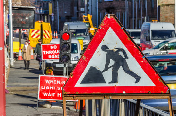 Rusty Roadworks Sign