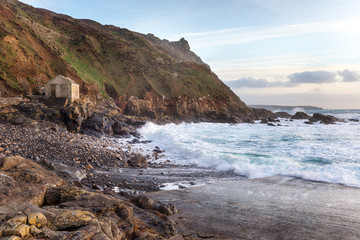 Stormy Sea at Priest's Cove