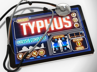 Typhus on the Display of Medical Tablet.