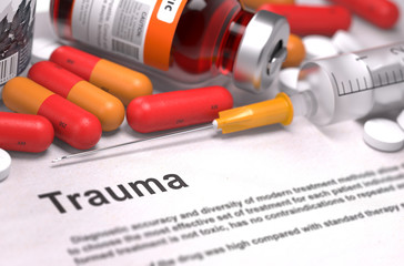 Trauma - Medical Concept. 3D Render.