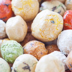 mame kichi japanese sweets beans with colored sugar coat..