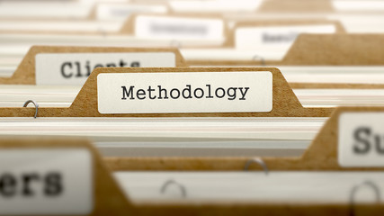 Methodology Concept with Word on Folder.