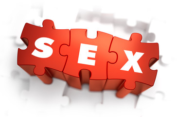 Sex - Text on Red Puzzles.