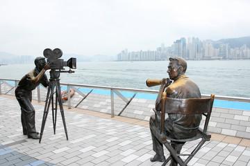 香港にある映画撮影の銅像