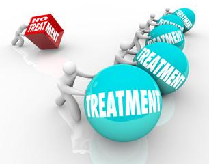 No Treatment Words Disadvantage Pain Suffering Pushing Cube Vs B